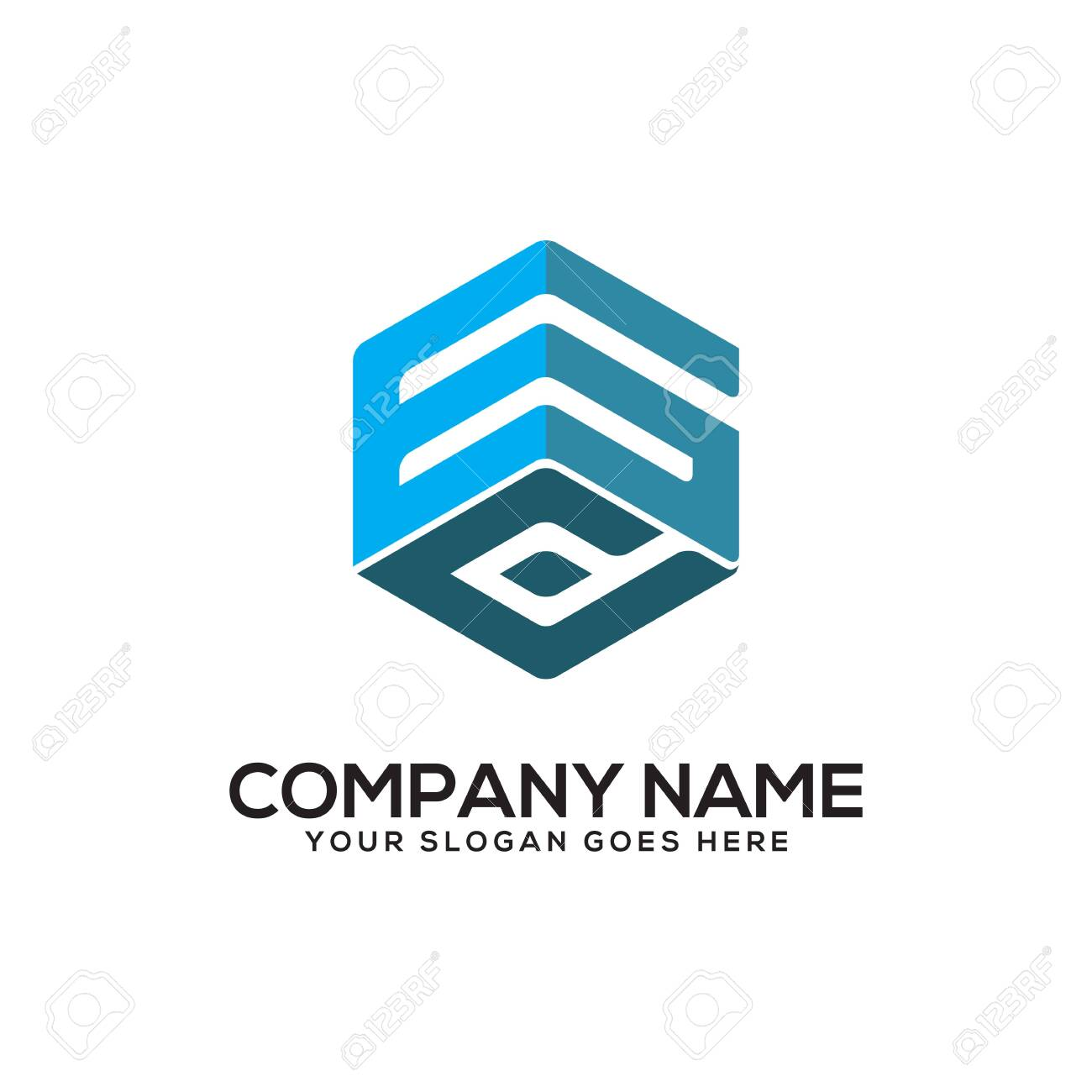 GD initial letter Logo Inspiration, G and D combination logo vector with hexagonal idea - 129786938