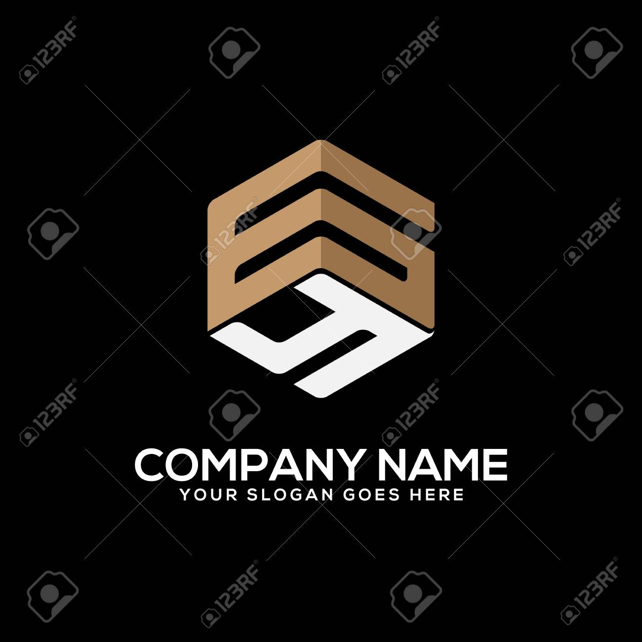 GY initial letter Logo Inspiration, G and Y combination logo vector with hexagonal idea - 129791441