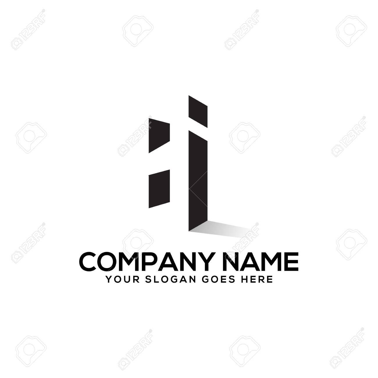 Hi Negative Space Logo Design Hi Logo Inspiration Royalty Free