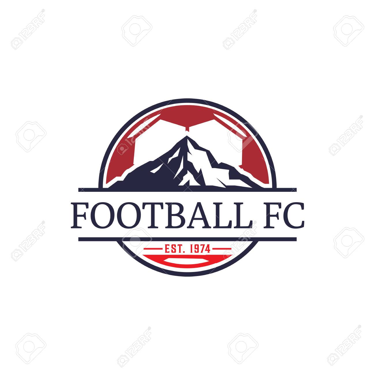 Football Club Logo Design Template Mountain Sport Logo Inspiration Royalty Free Cliparts Vectors And Stock Illustration Image 137942729
