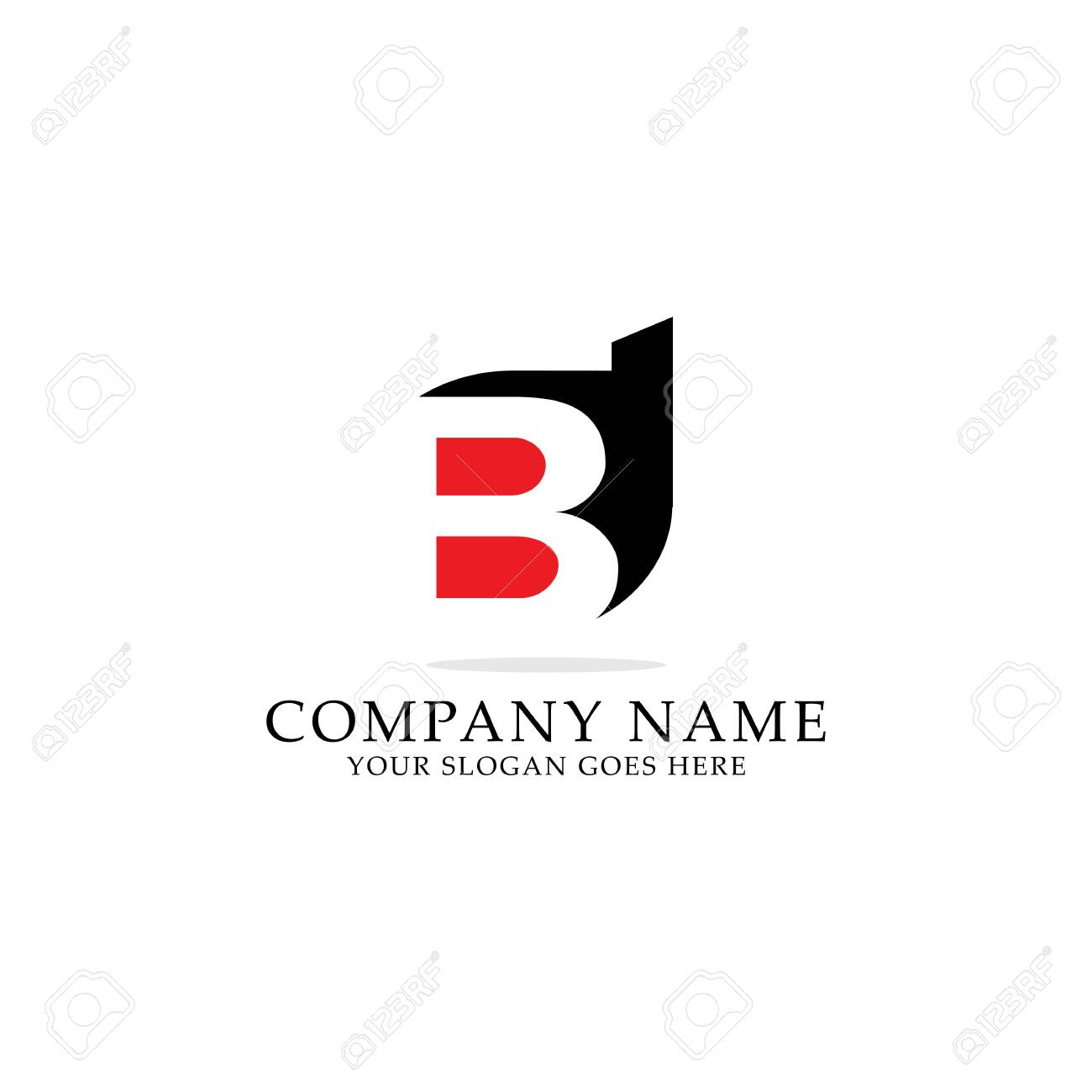Bd Negative Space Logo Design Bd Letter Name Logo Inspiration