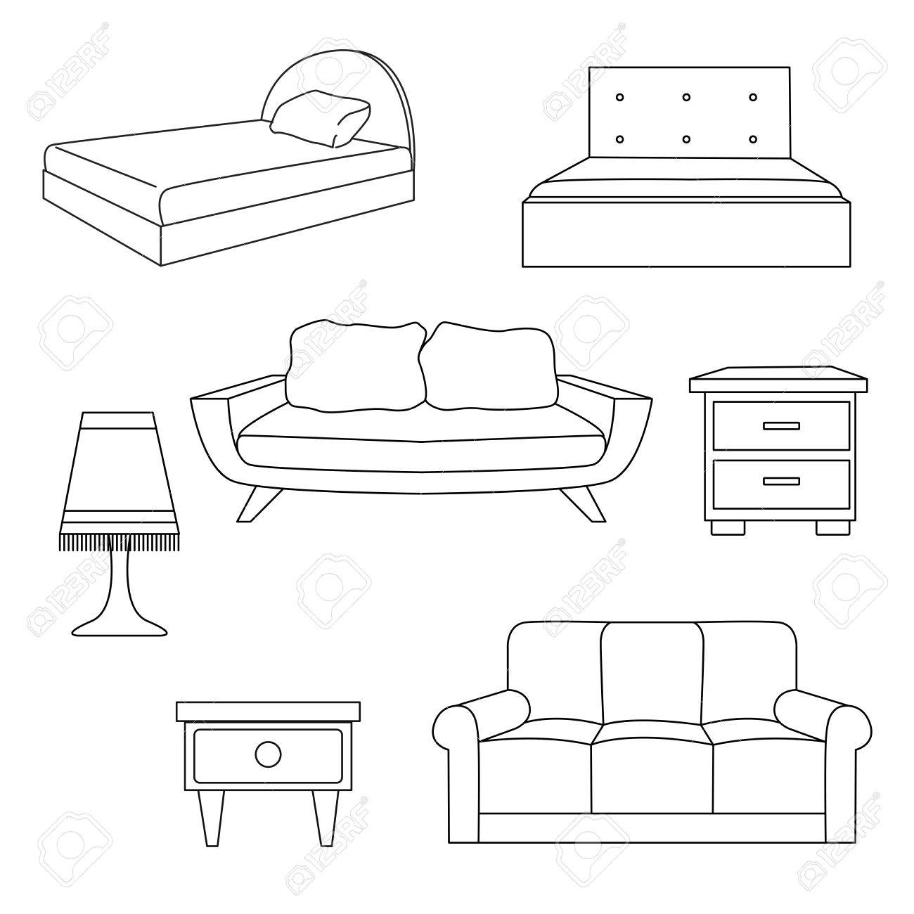 Groovy Sofa Bed Bedside Table A Lamp Isolated On White Background Unemploymentrelief Wooden Chair Designs For Living Room Unemploymentrelieforg