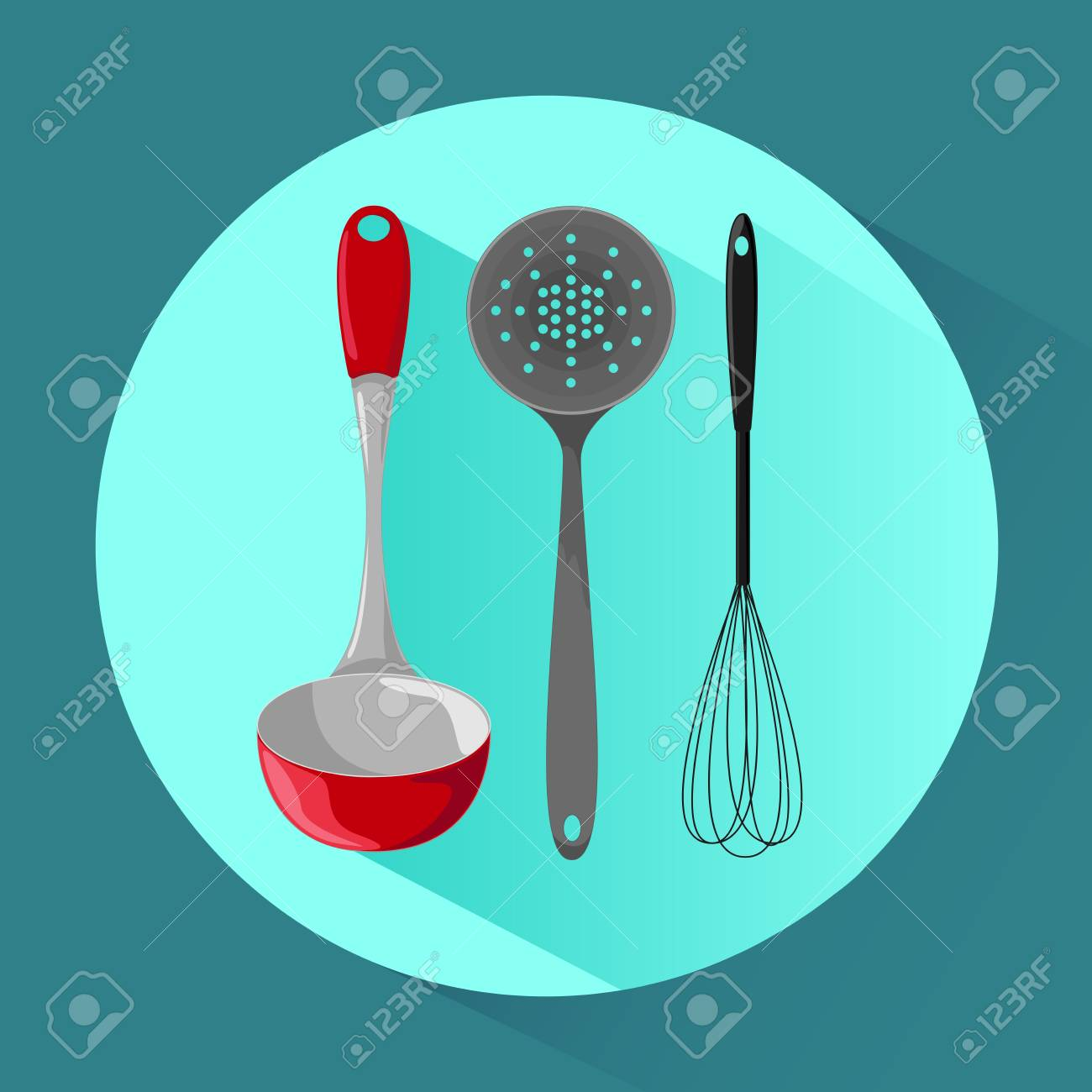Kitchen Utensils. Icon In Cartoon Style. Vector Illustration ...
