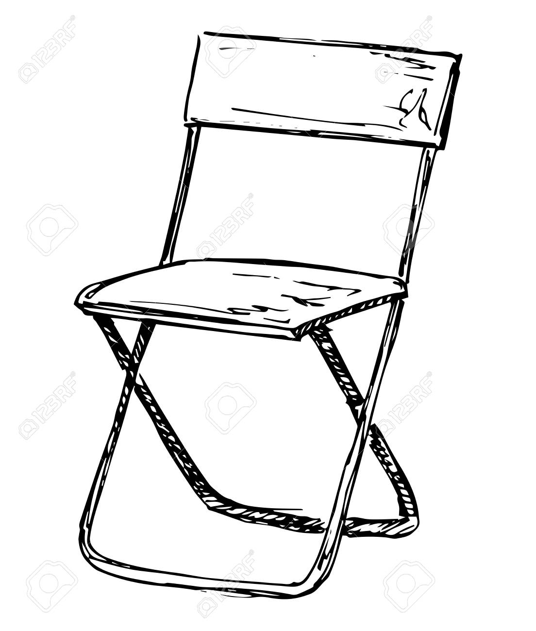 Outstanding Folding Chair Isolated On White Background Vector Illustration Pdpeps Interior Chair Design Pdpepsorg