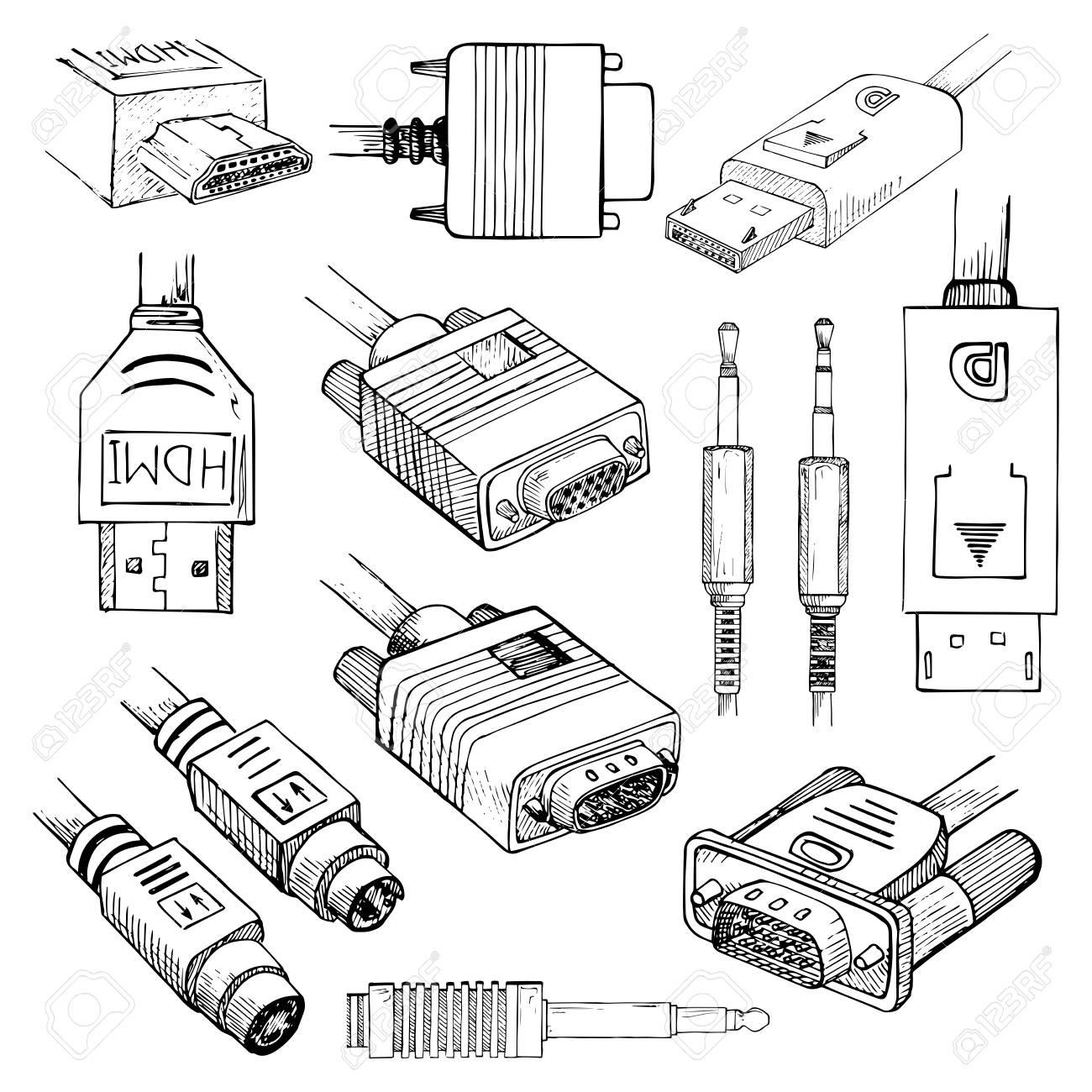 media cables set hdmi vga dvi displayport s video audio HDMI to VGA Adapter media cables set hdmi vga dvi displayport s video