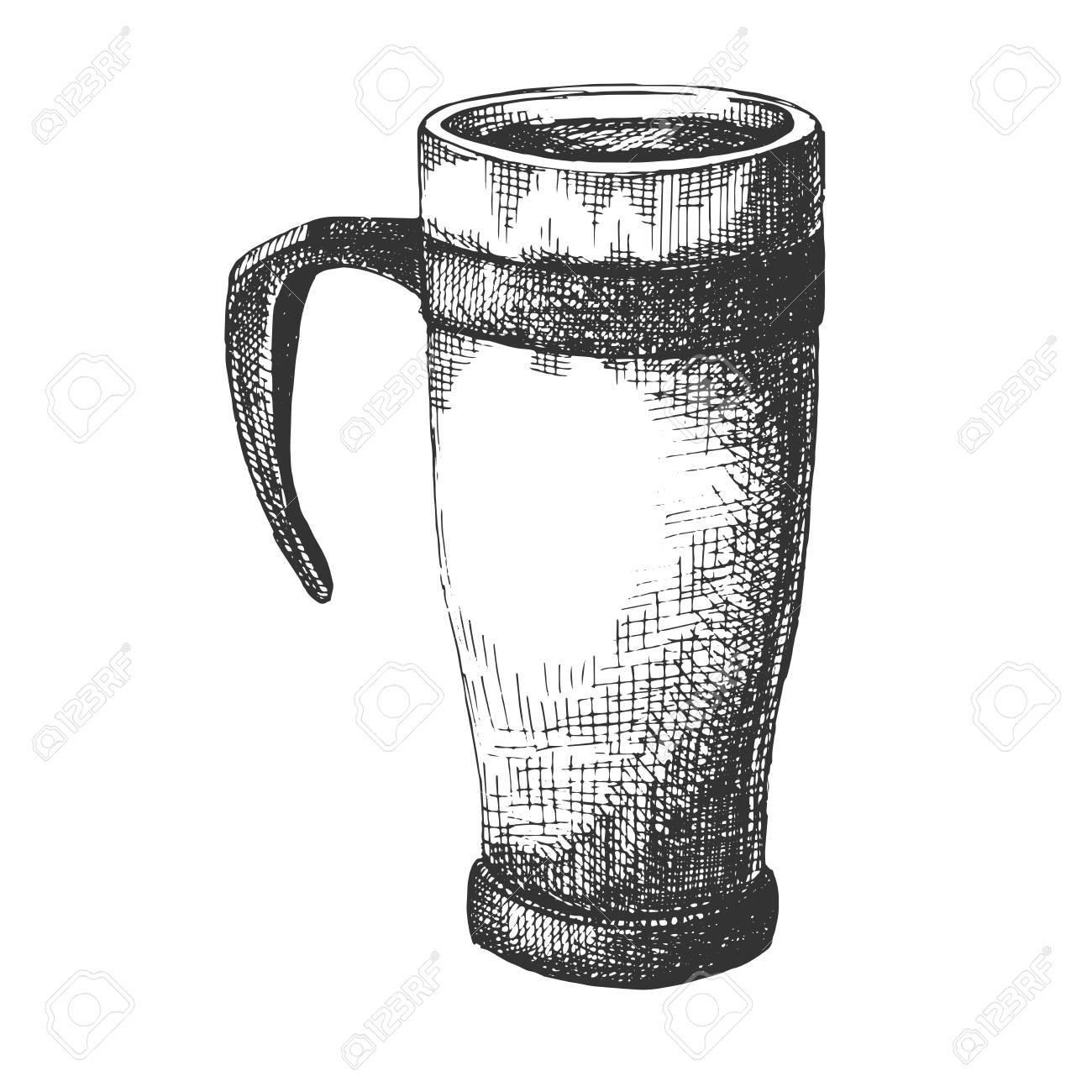 Sketch Travel Mug Travel Mug Isolated On White Background Royalty Free Cliparts Vectors And Stock Illustration Image 111452762