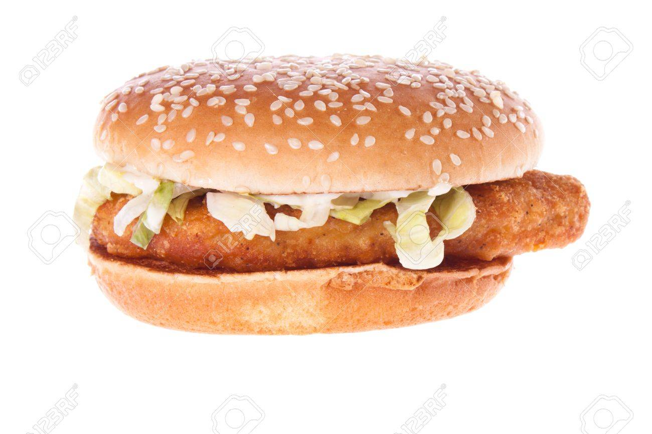 Classic American Food Removed On A White Background Stock Photo