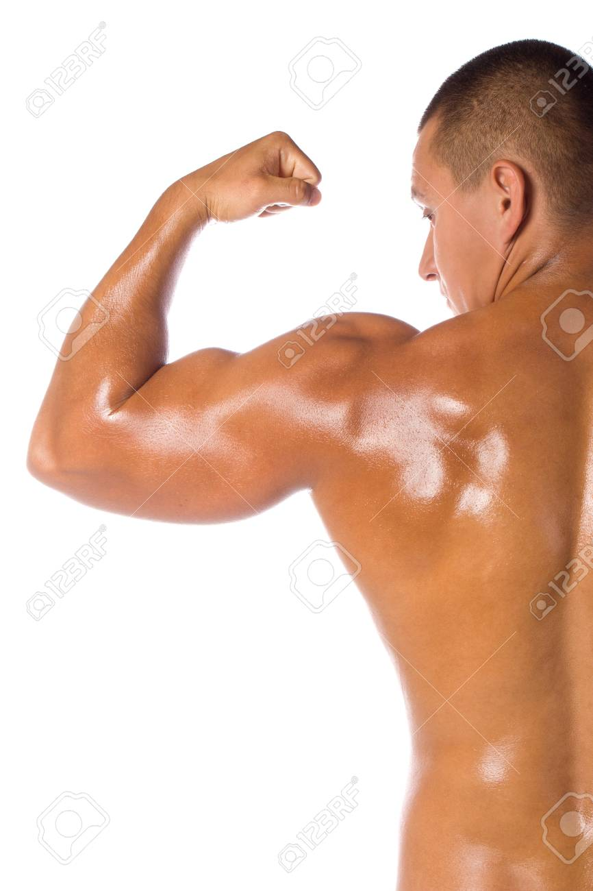 Muscled male model bodybuilder muscle Stock Photo - 15370160