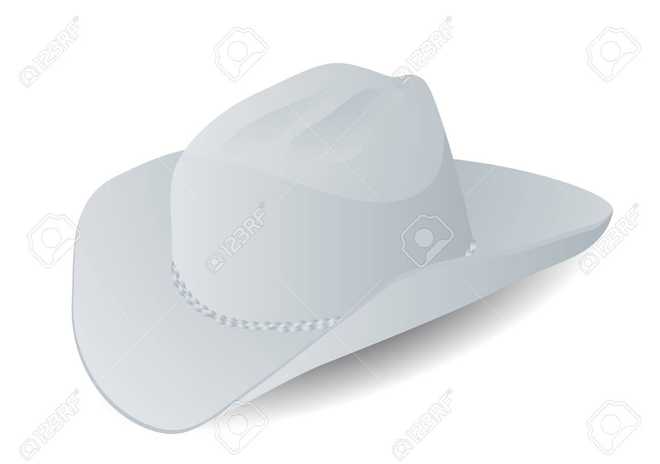 Stetson Hat Isolated On The White Background Royalty Free Cliparts ... 7e83955c0dd
