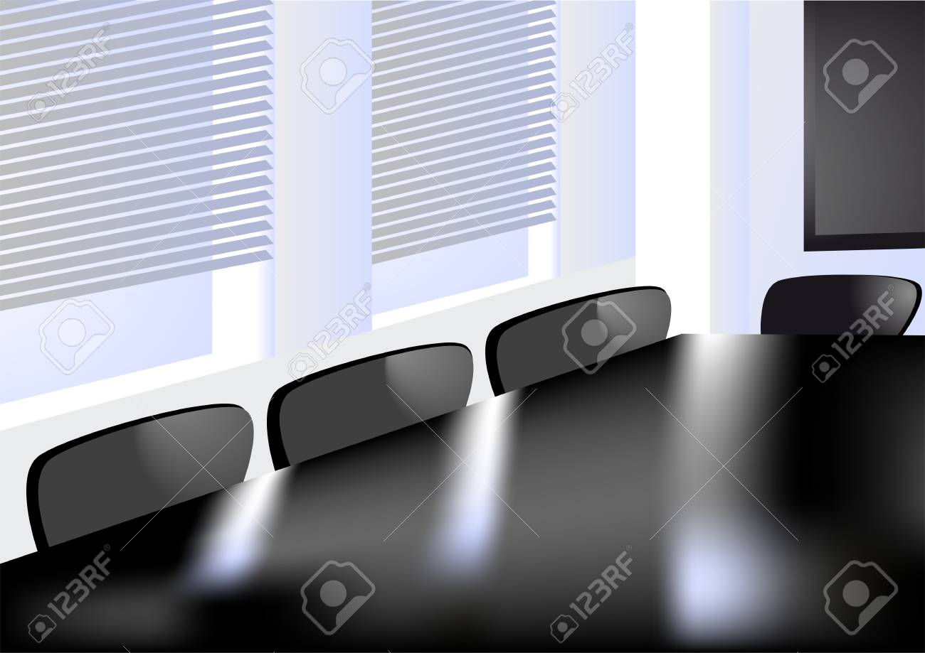 abstract office  window in the conference room Stock Vector - 17013143