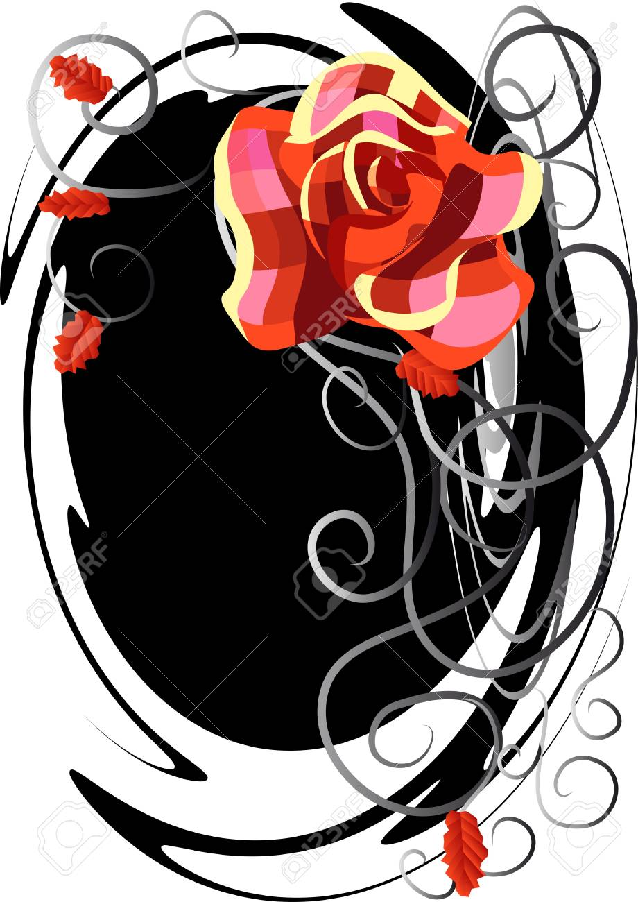 abstract floral background with checked rose Stock Vector - 17651704