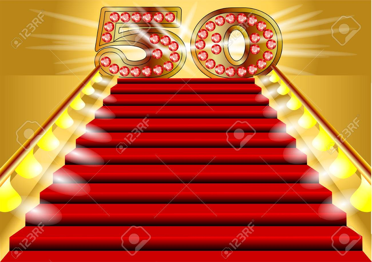 50 years anniversary symbol on the lighted stairs royalty free 50 years anniversary symbol on the lighted stairs stock vector 22365568 buycottarizona Choice Image