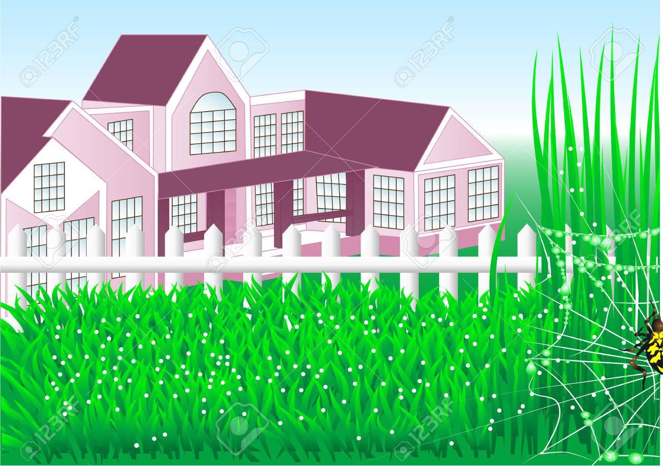 Petite Cloture De Jardin Blanche maison de campagne avec jardin et clôture blanche