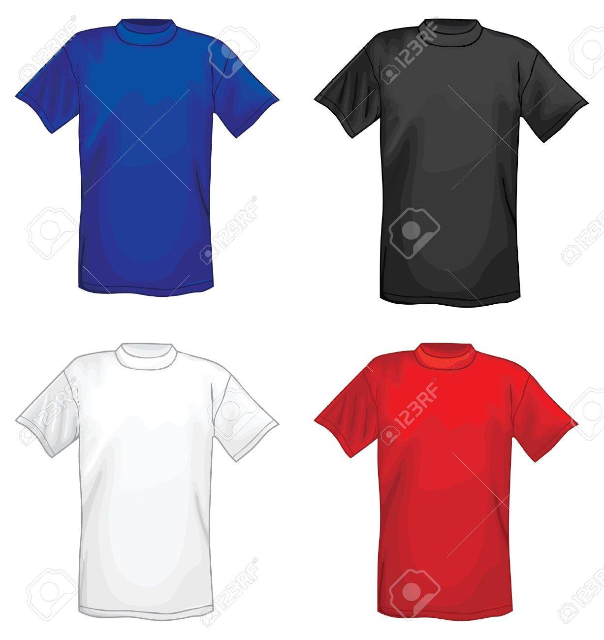b7fa7c9d Multicolored Vector T-shirt Design Templates Royalty Free Cliparts ...