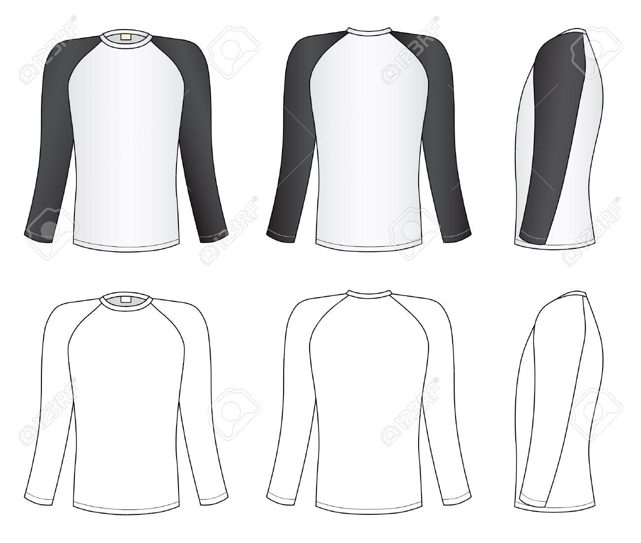 Long Sleeve Shirt Vector Template Long Sleeve Shirt Raglan