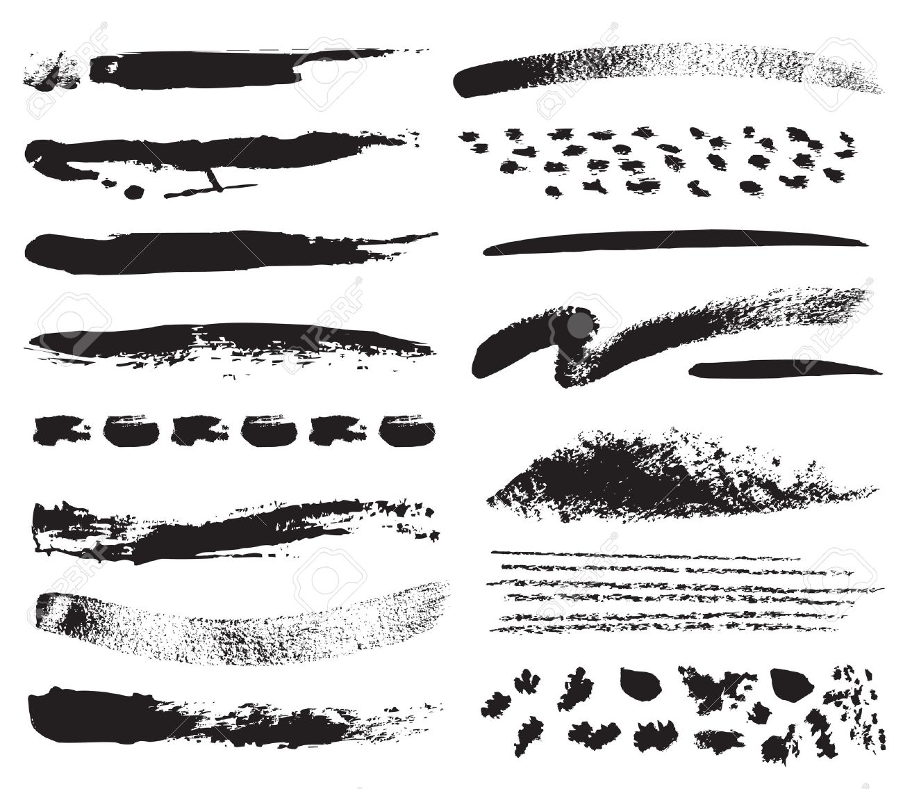 A collection of natural brush strokes Stock Vector - 11357386