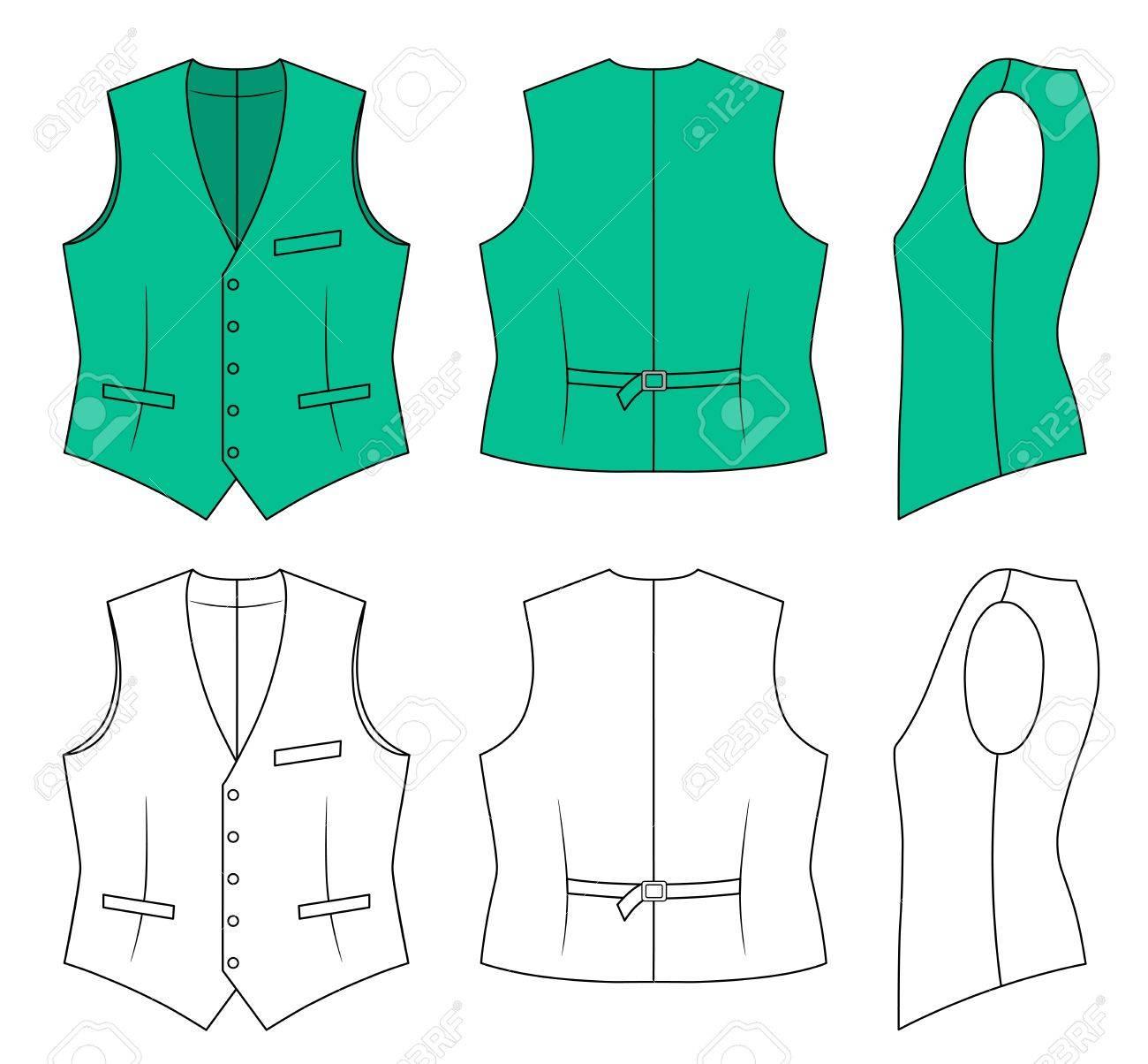 Man green waistcoat - 11357360