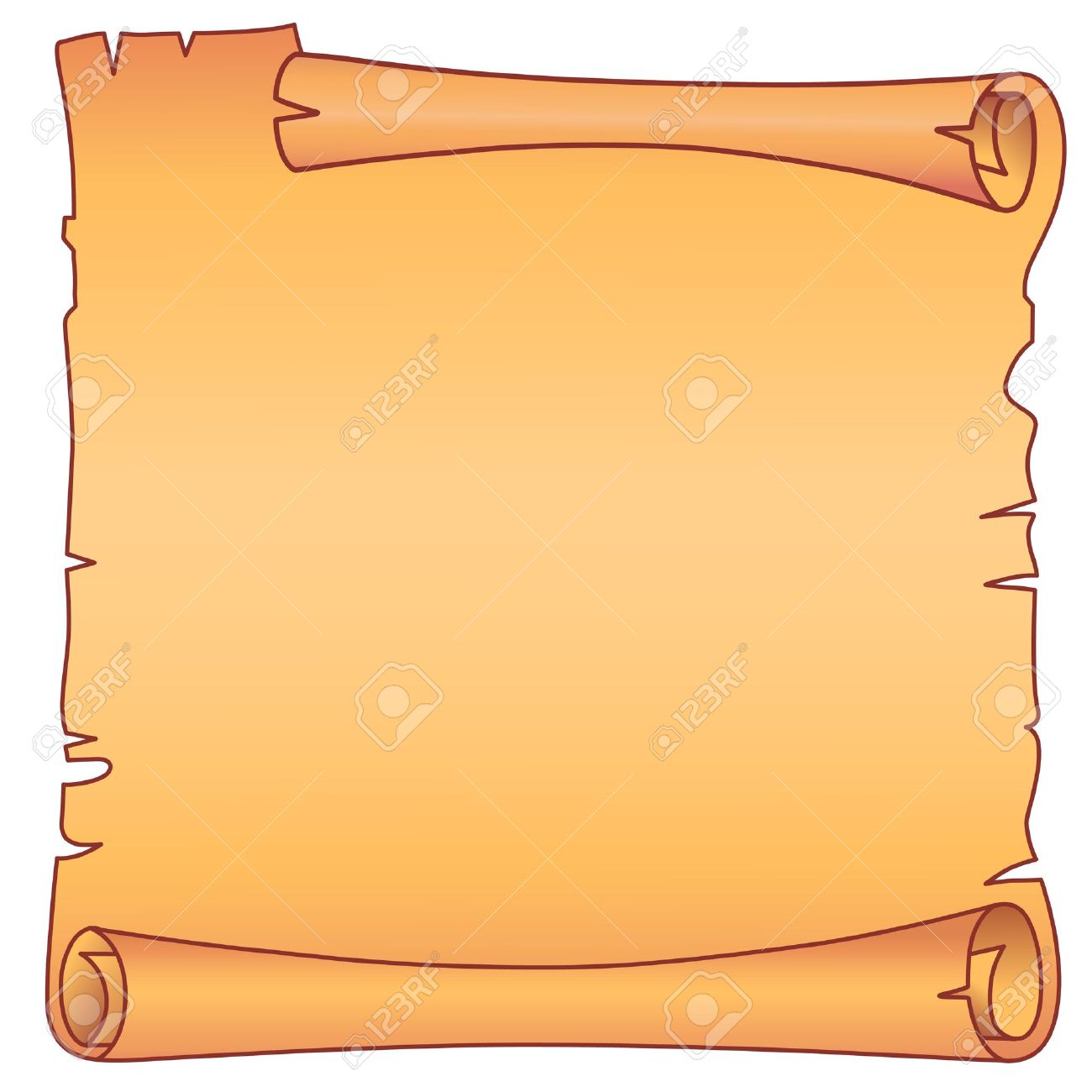 Parchment square scroll Stock Vector - 11357044
