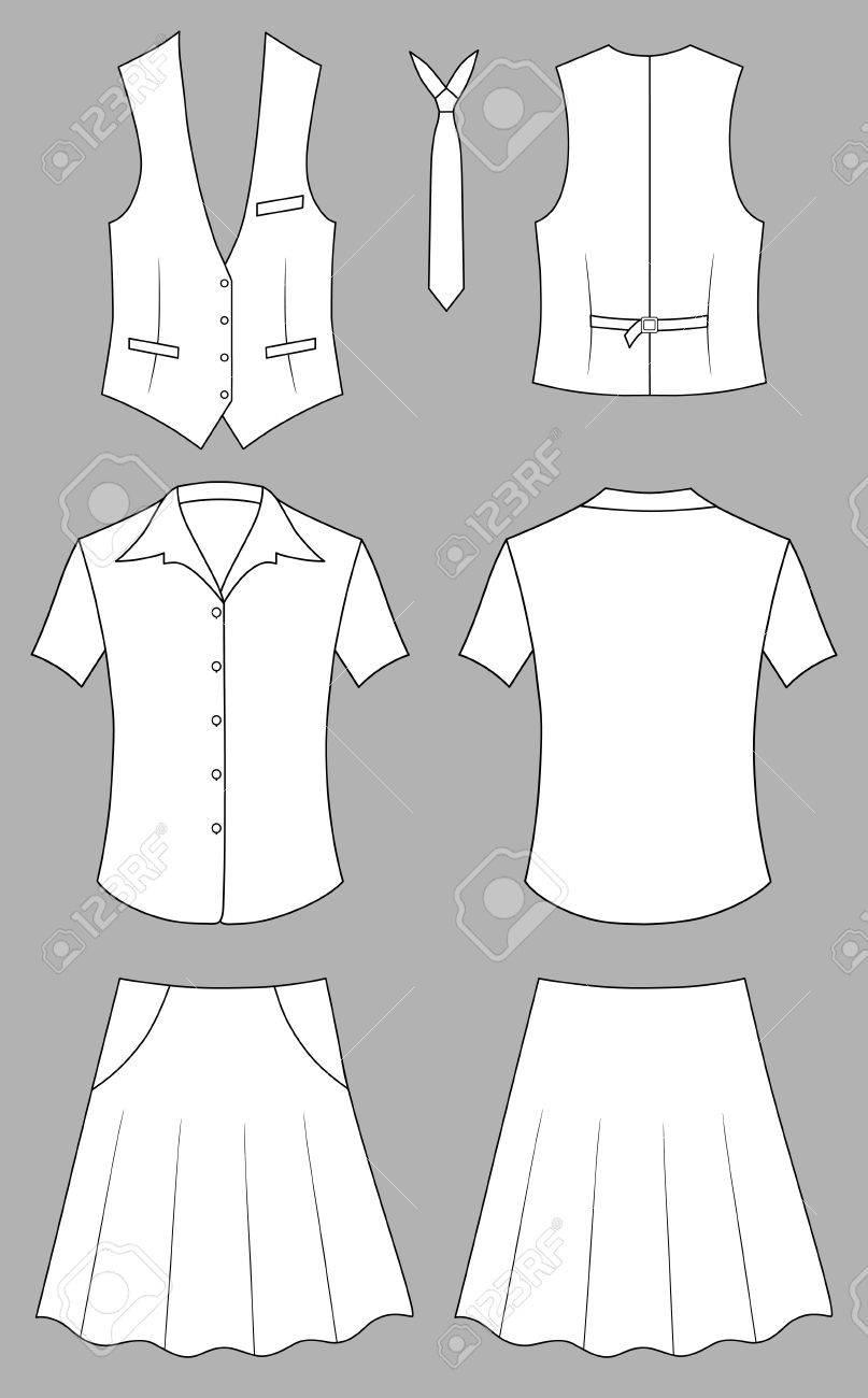 Woman cashier or seller clothes - 11357361