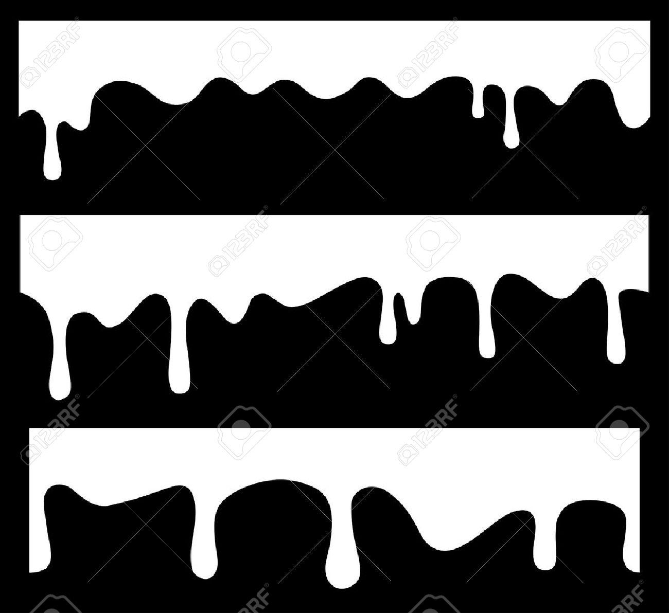 Vector seamless drips - 11357739