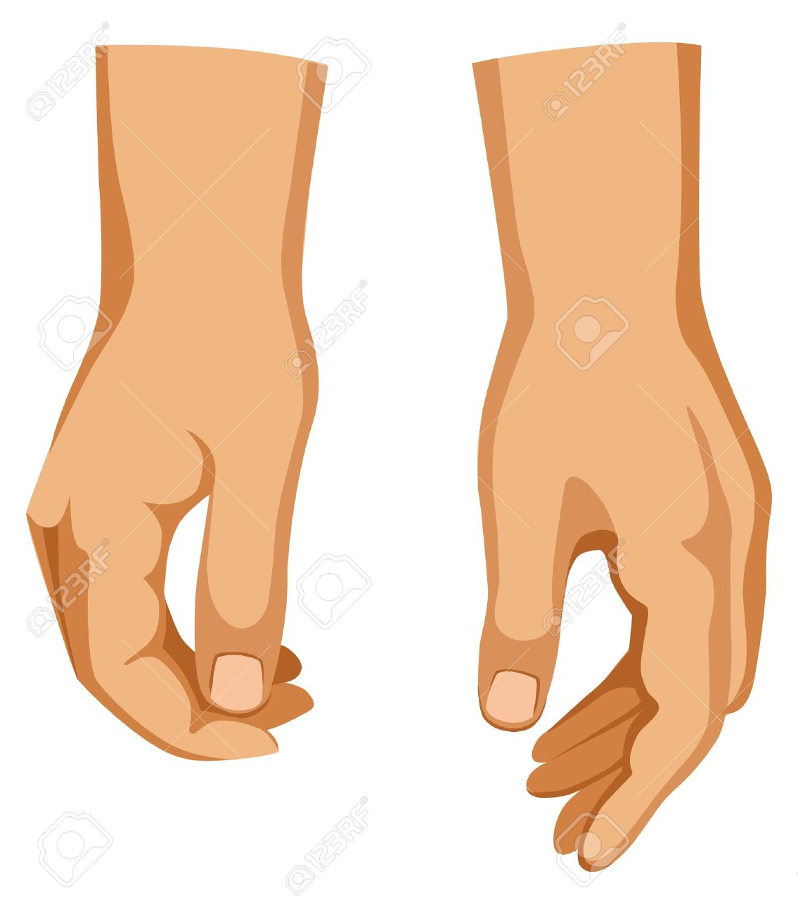 Two hands Stock Vector - 11357770