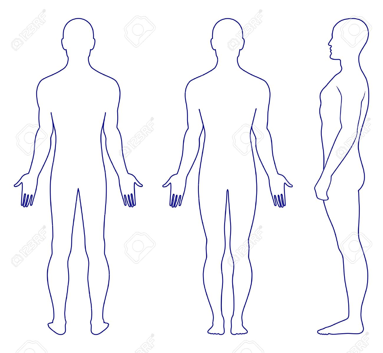 Human Body Outline Vector Man Body Human Outline