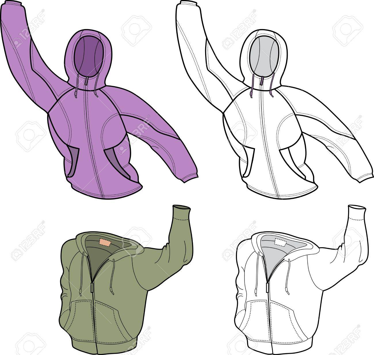 Men Jackets (front view) isolated on white background Stock Vector - 12323029