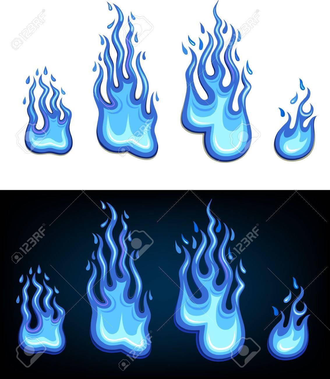 Gas flame set Stock Vector - 13974666