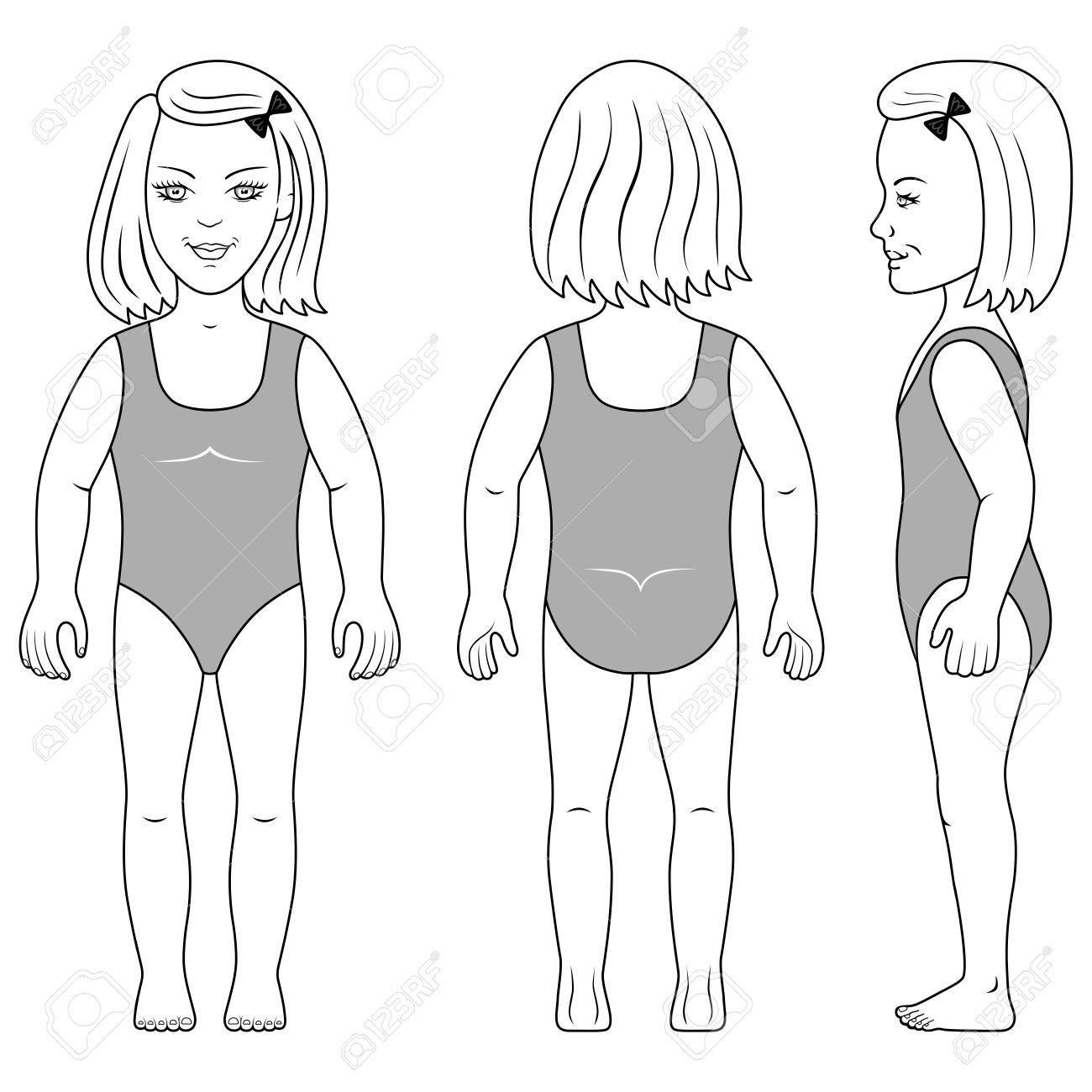 Encuadre De Cuerpo Entero, Espalda, Vista Lateral De Un Niño En Edad ...