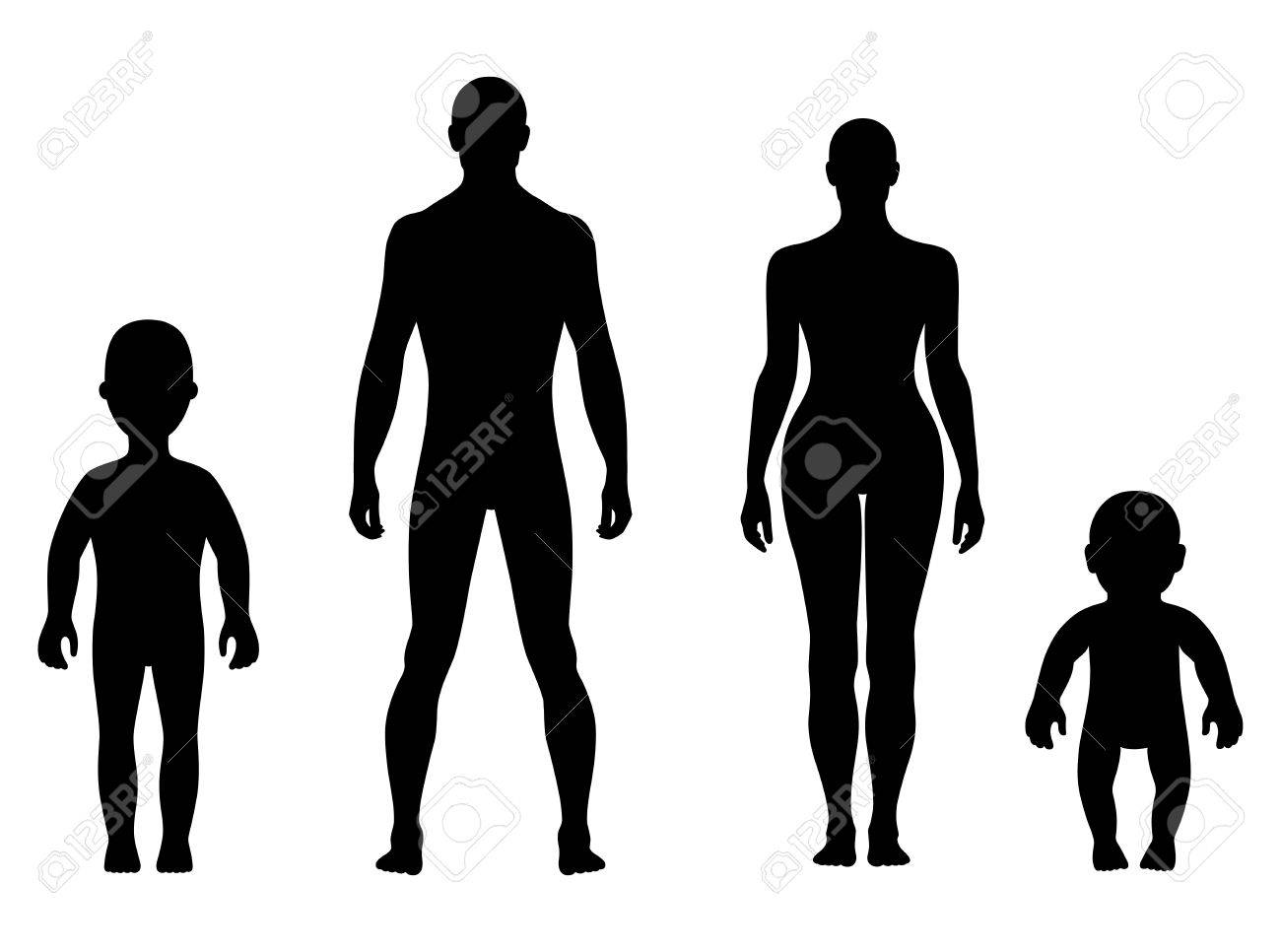 full length front human silhouette vector illustration isolated rh 123rf com human silhouette vector ai human silhouette vector free download