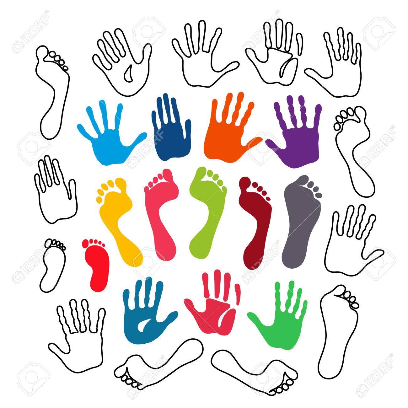 Vektor Illustration Skizziert Und Gefärbt Generation Hand Und