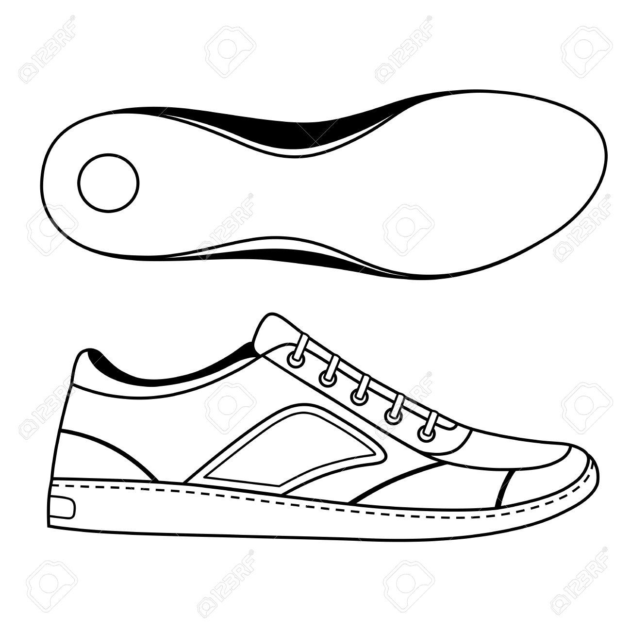 Negro Se Indica Zapatillas De Deporte Del Zapato Y Suela
