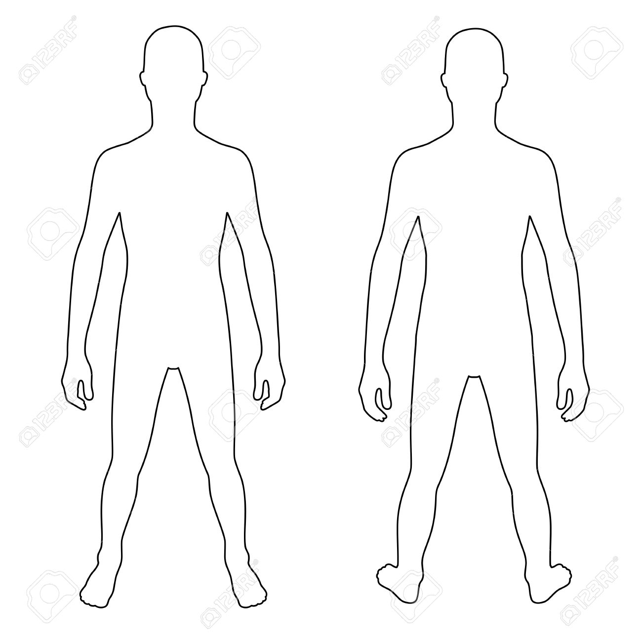 1 017 human body outline front and back cliparts stock vector and rh 123rf com human body outline clipart body outline clipart free