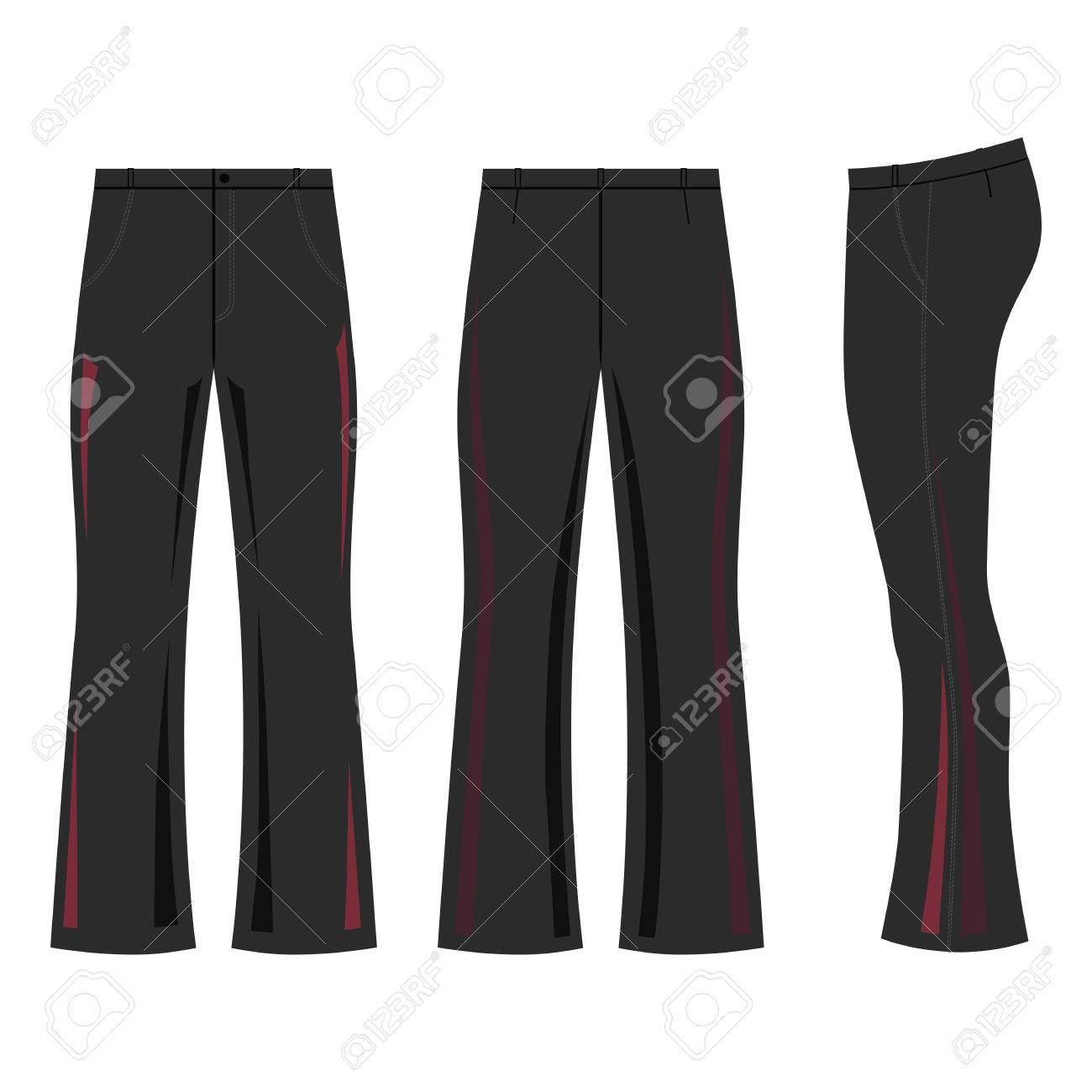 52a6d5882 ... ilustración vectorial aislada sobre fondo blanco. El hombre destacó los  pantalones oscuros de la llamarada de la plantilla (frente, vista