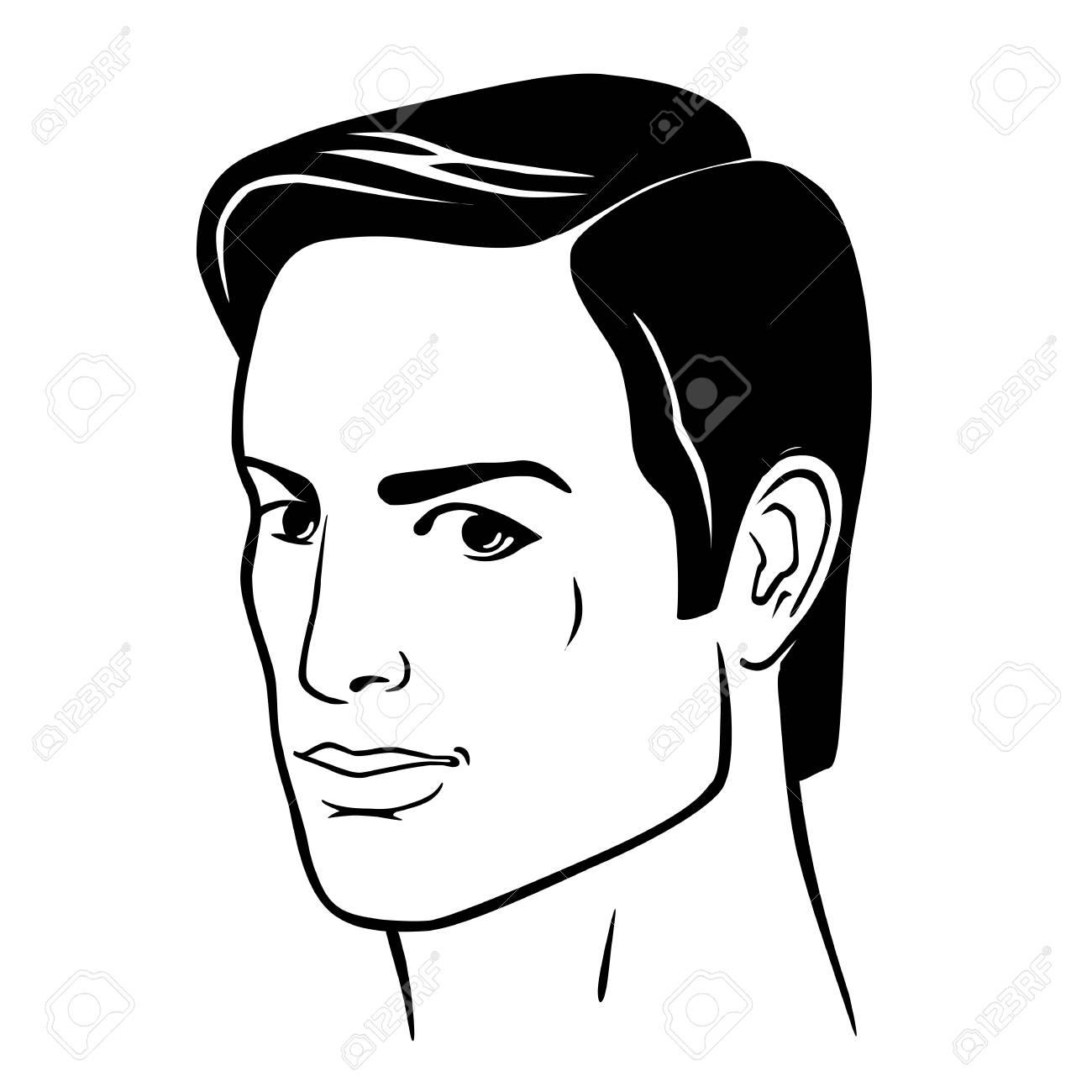 Front De Tete De Coiffure Homme Illustration Vectorielle Isole Sur Fond Blanc Clip Art Libres De Droits Vecteurs Et Illustration Image 88653208