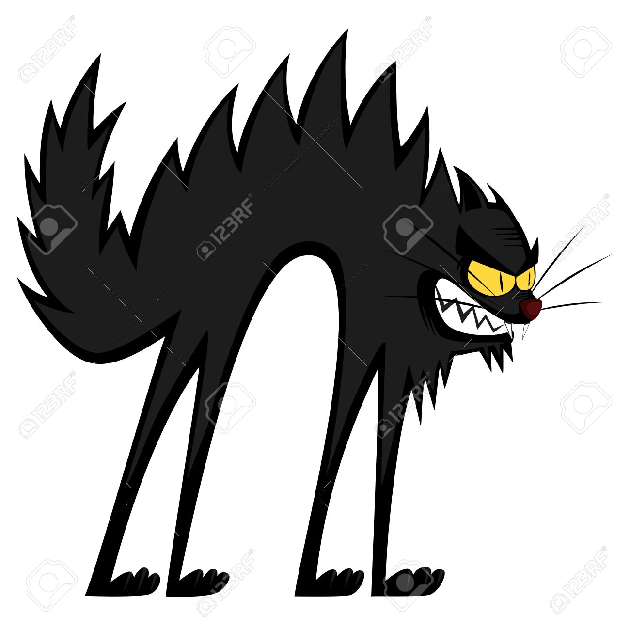 Cool Cats An Angry Black Tomcat Cartoon Royalty Free Cliparts Vectors And Stock Illustration Image 32574368