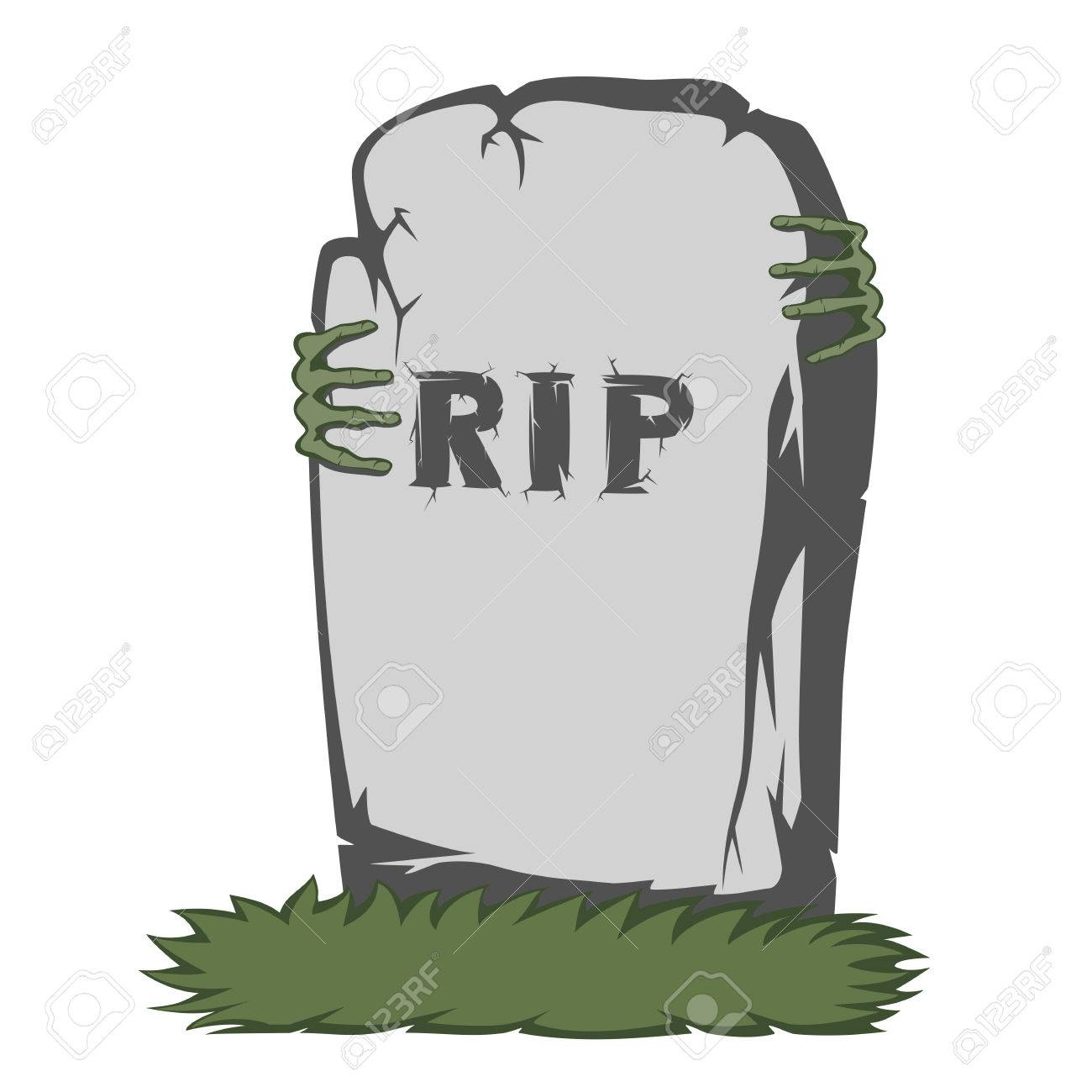 44805291 the grass and gray gravestone with rip and text scary fingers