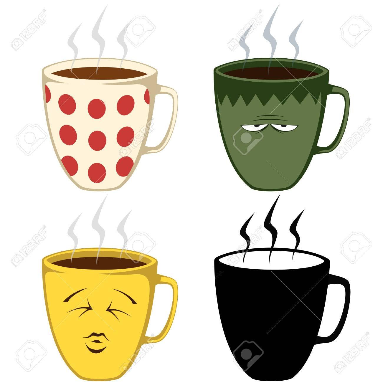 Set Of Coffee Mug Illustrations Royalty Free Cliparts Vectors And Stock Illustration Image 56717928
