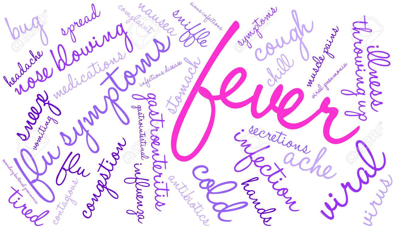 Fever Word Cloud On A White Background Royalty Free Cliparts Vectors And Stock Illustration Image 67771483