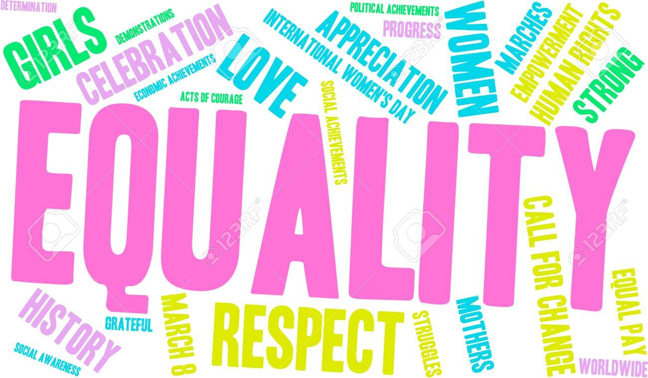 Equality word cloud on a white background. - 67891729