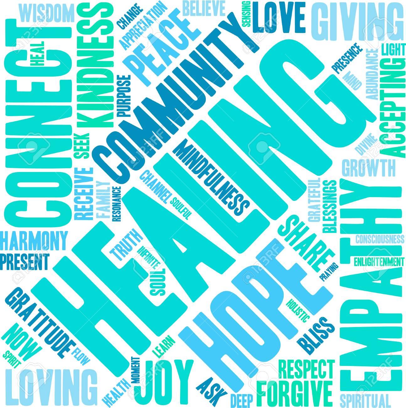Healing Word Cloud - 70322169