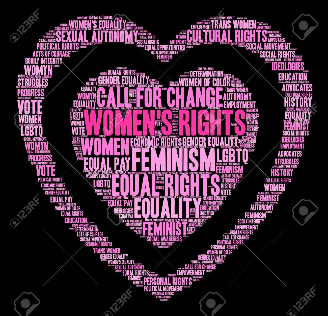 Womens rights word cloud on a black background royalty free womens rights word cloud on a black background stock vector 72094691 biocorpaavc Images