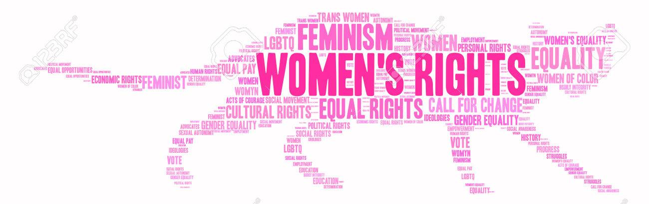 Womens Rights word cloud on a white background. - 73953406