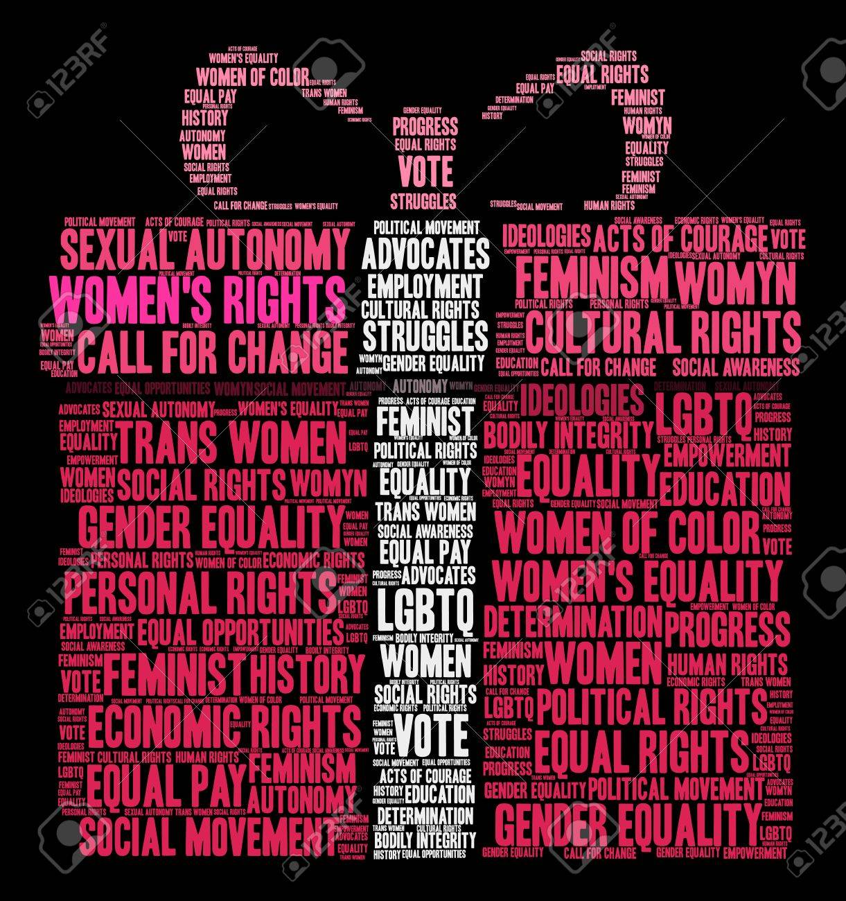 Womens rights word cloud on a black background royalty free womens rights word cloud on a black background stock vector 73886870 biocorpaavc Images