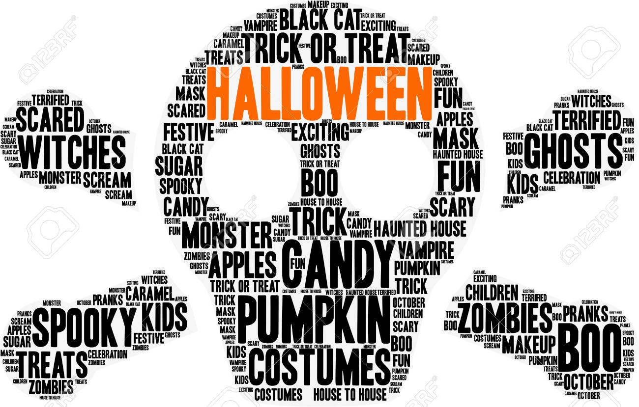 halloween word cloud concept royalty free cliparts vectors and