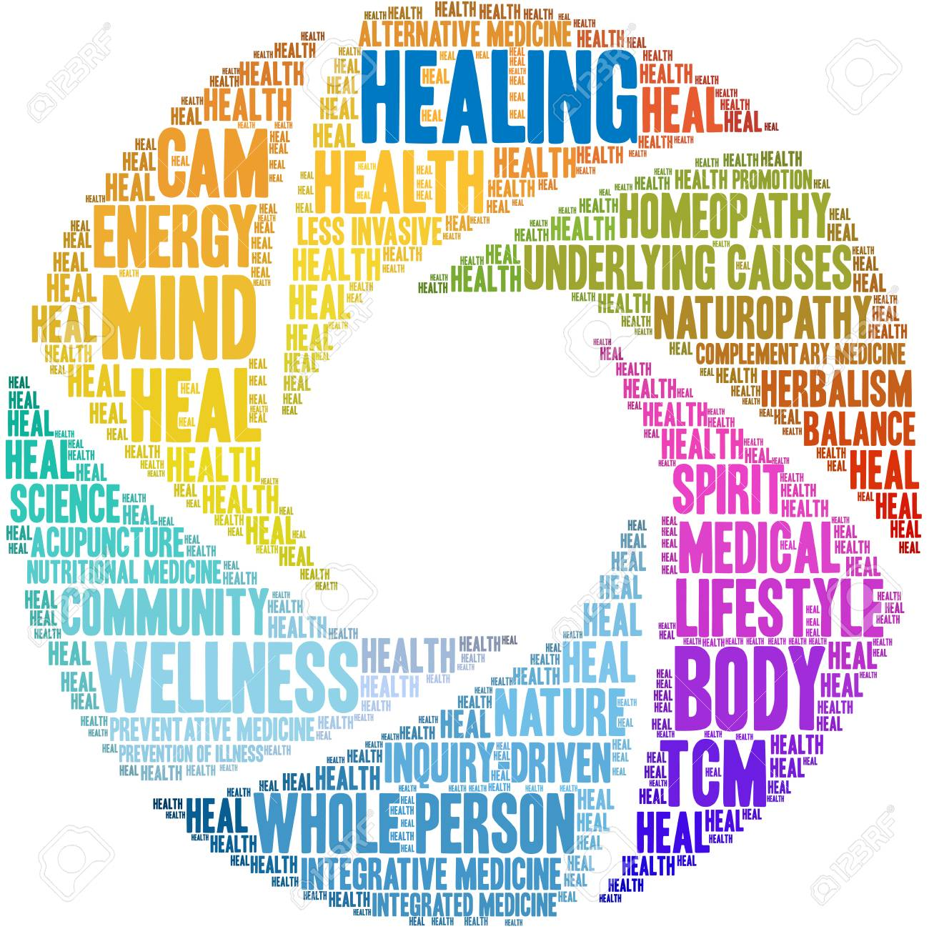 Healing word cloud on a white background. - 122590880
