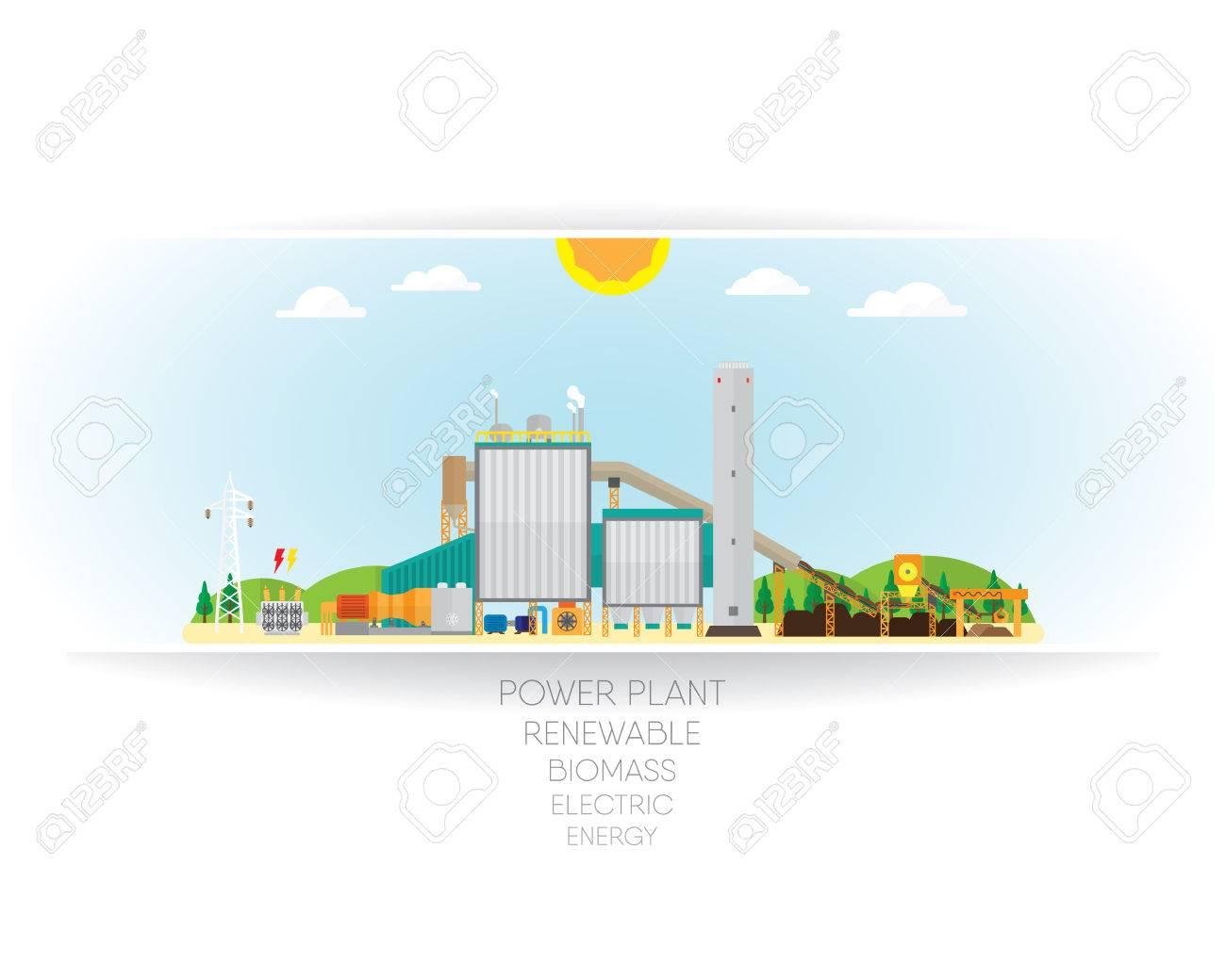 biomass power plant, biomass energy with steam turbine generate