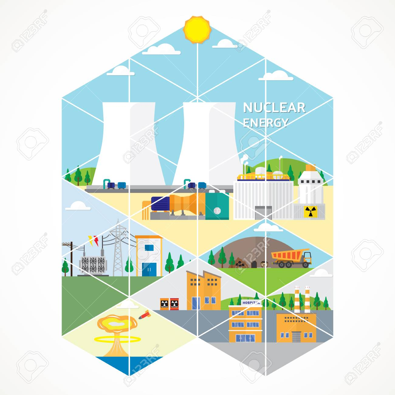Nuclear Energy Power Plant Diagram Electrical Wiring Diagrams Ppt Royalty Free Cliparts Vectors Fossil Fuel