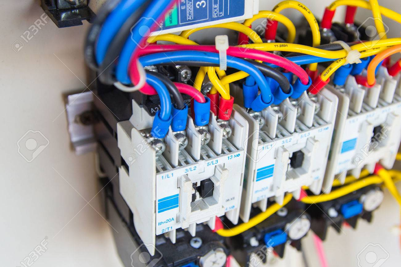 Prime Close Up Circuit Breakers And Wire In Control Panel Stock Photo Wiring Cloud Favobieswglorg