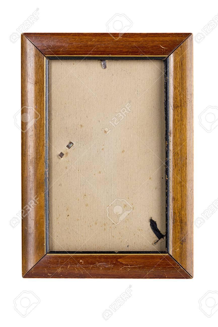 Alte Bilderrahmen Aus Holz Mit Vintage-matte, Isoliert Auf Weiß ...